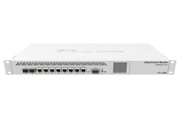MikroTik RB-CCR1009-7G-1C-1S+ Cloud Core Router - 9 x 1.2GHz Core CPU, 2GB RAM, ROS L6